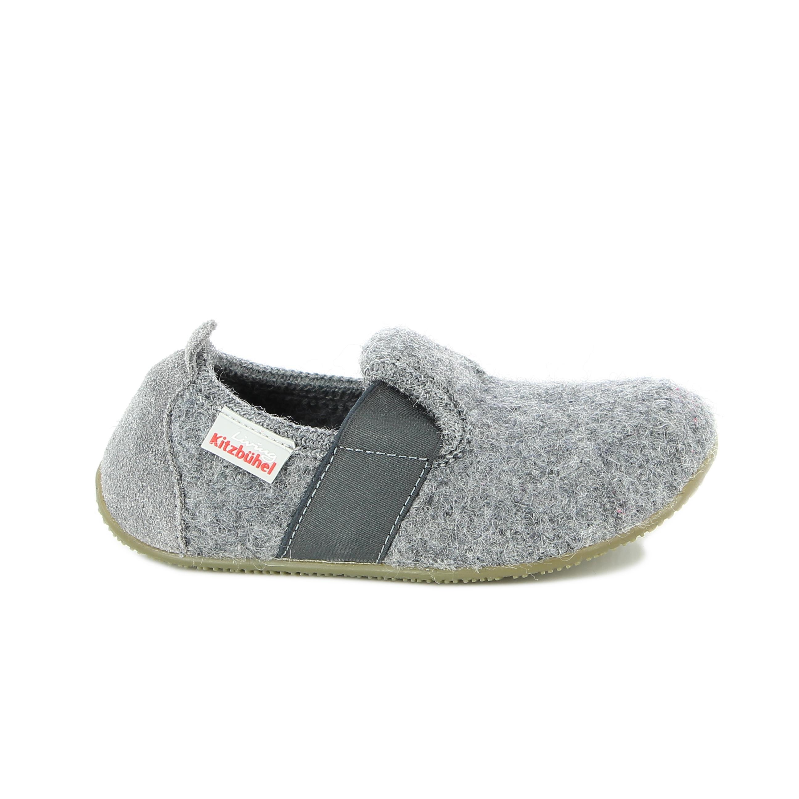 Living Kitzbühel Kinder Hausschuh grau Wolle Gr. 23 26 1446 0610 | Offizieller Living Kitzbühel Shop | Die besten Schuhe für Zuhause