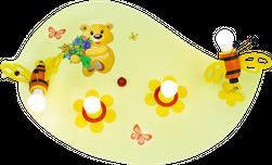 "Deckenleuchte Blatt ""Teddybär & Hummel"" (4-flammig)"