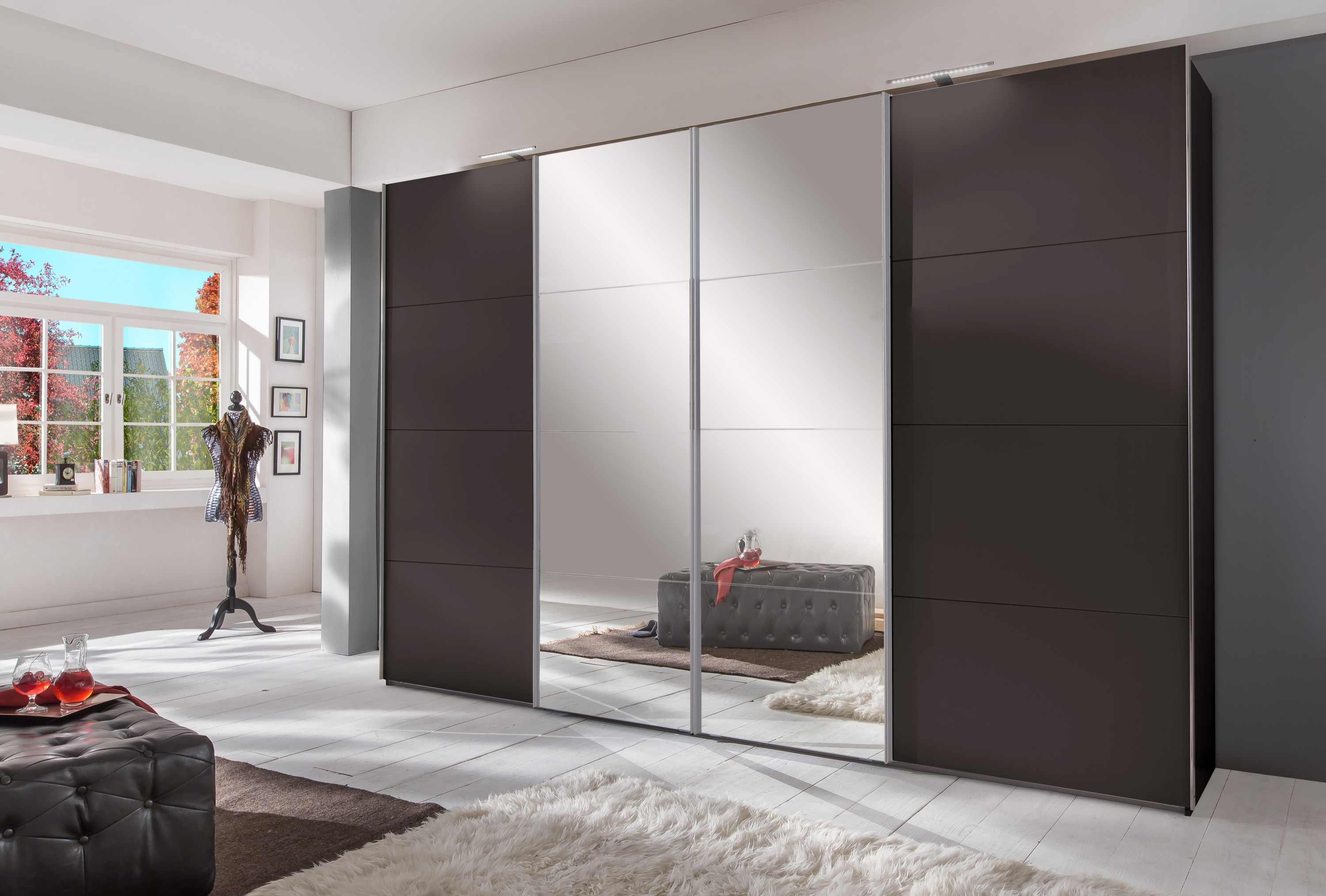 schwebet renschrank br ssel 270 cm eiche s gerau dekor alpinwei wohnwelten schlafzimmer. Black Bedroom Furniture Sets. Home Design Ideas