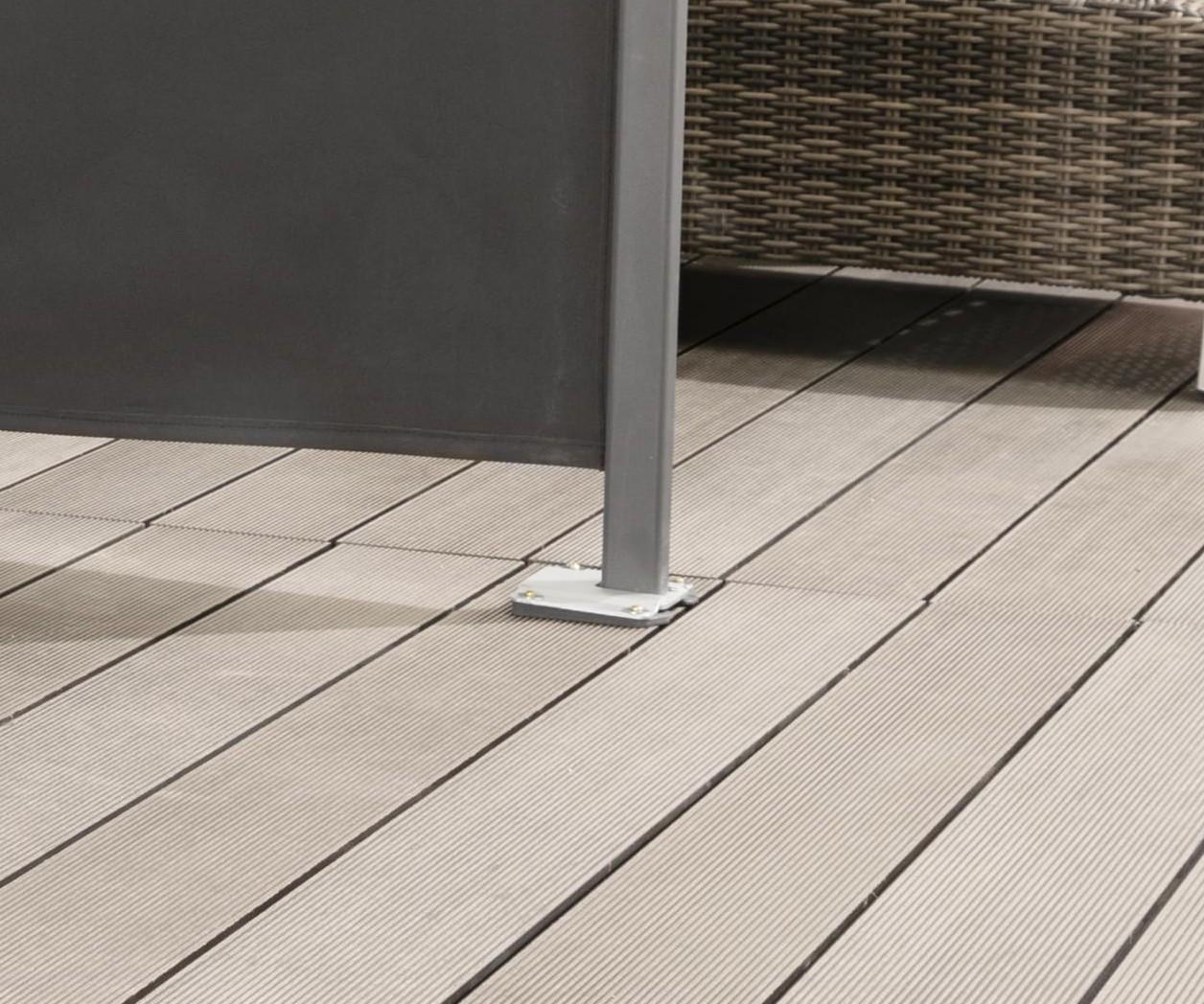 seitenmarkise sichtschutz sonnenschutz windschutz 180 x. Black Bedroom Furniture Sets. Home Design Ideas