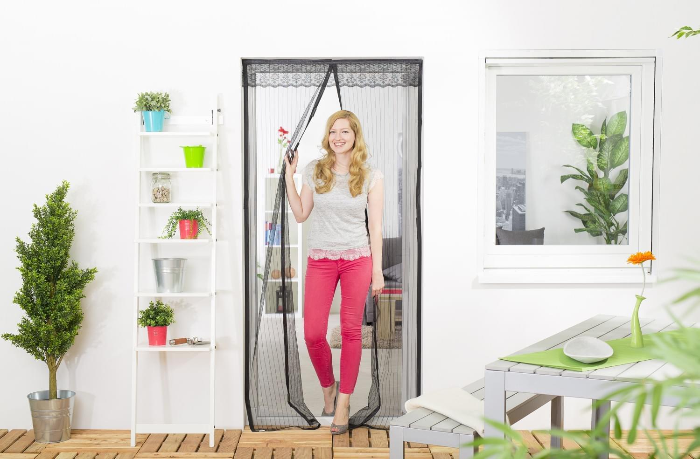 fliegengitter t r magnet magnetvorhang magnetverschluss fliegennetz 100 x 220 ebay. Black Bedroom Furniture Sets. Home Design Ideas