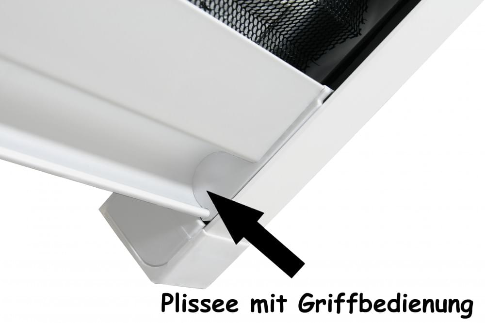 insektenschutz fliegengitter plissee f r dachfenster 110 x 160 cm wei ebay. Black Bedroom Furniture Sets. Home Design Ideas