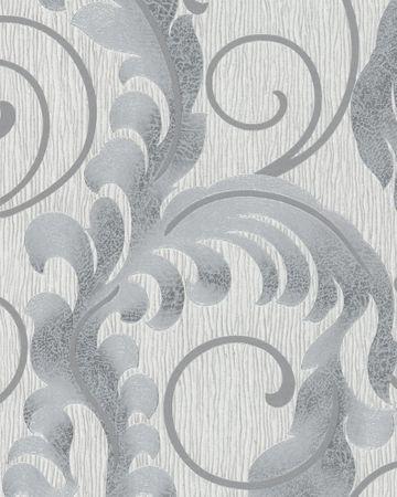 Marburg Da Milano   55104  Vliestapete  Floral  Silber Grau