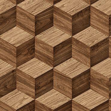 Holzwürfel 3D Vliestapete NF232123