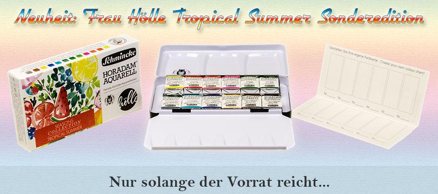 Tropical Summer - Horadam Metallkasten Frau Hoelle Edition Schmincke 74 834 097