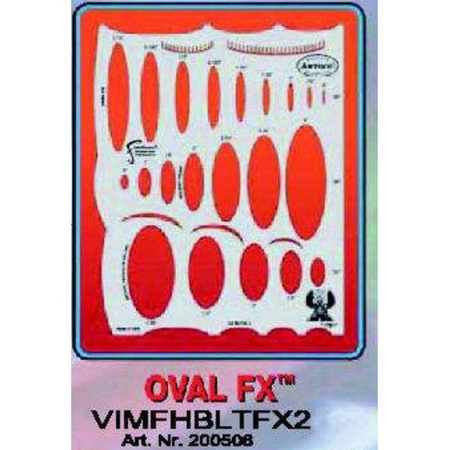 artool - OVAL FX  Airbrush Schablone 200 506