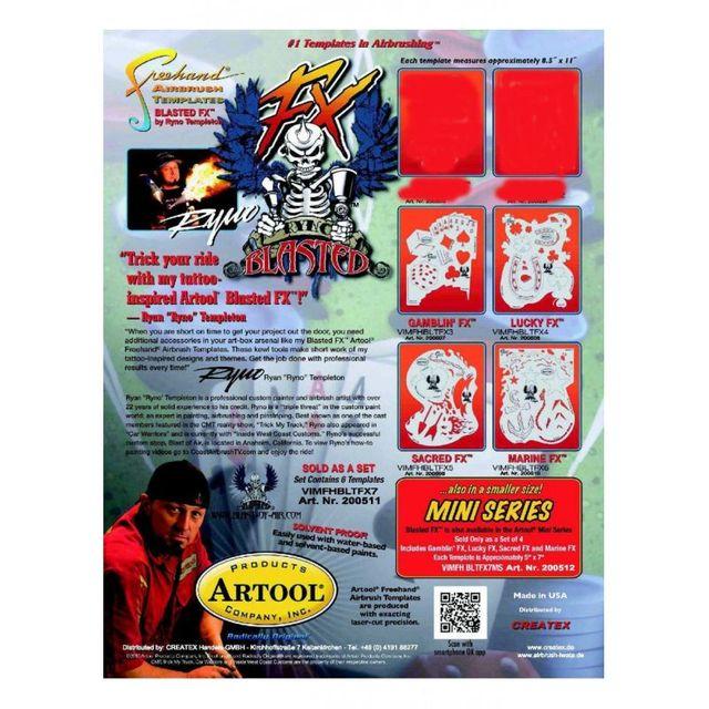 artool - Blasted FX Mini Airbrush Schablone 200 512
