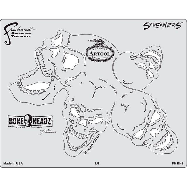 """artool - Bone Headz Schablonen-Set ,,Screamers"""" 200 469"""