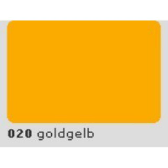 Oracal 651 Plotterfolie 63cm x 5m goldgelb 020