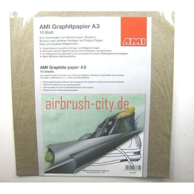 AMI Graphitpapier 10Blatt A3 schwarz 152308