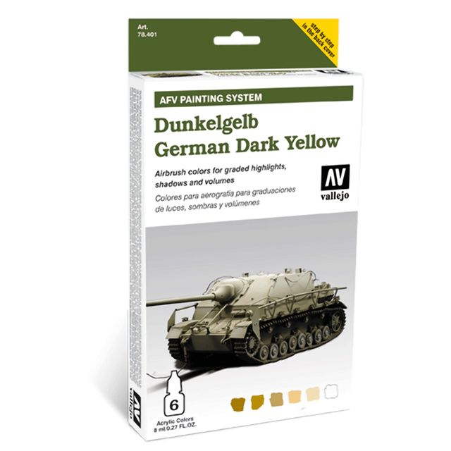 Model Air AFV Armour Painting System German Dunkelgelb Farbenset 78401