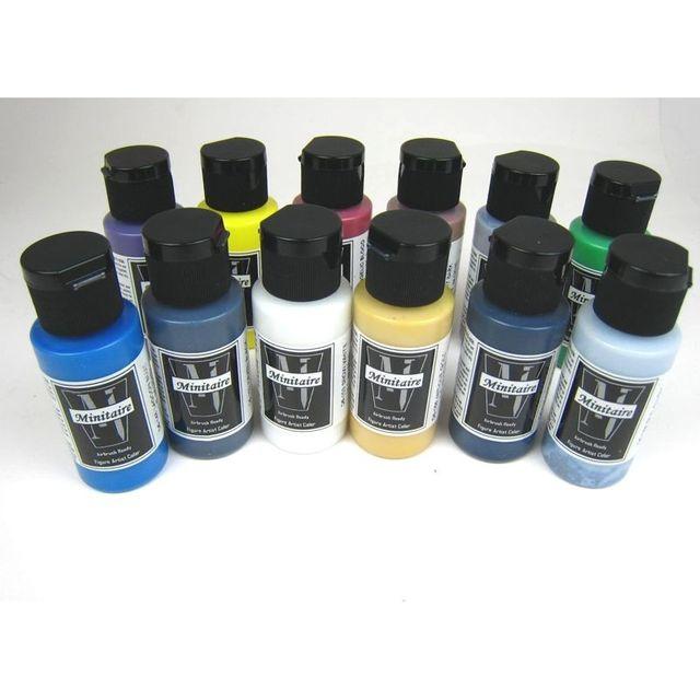 Minitaire Starter Set 12 x 30ml Airbrush Farbenset Wargaming