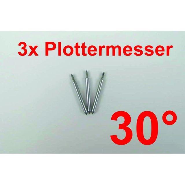 3x Plottermesser 30° für Roland Helo Secabo uvm Plotter Schneideplotter