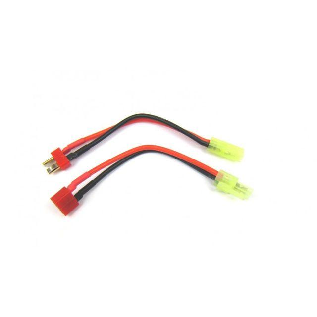 Adapterkabel-Set Mini-TAMIYA auf T-Plug Deans T-Stecker und Buchse Adapter