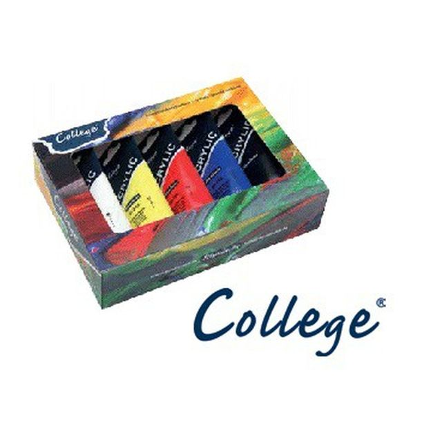 Schmincke College Kartonset 5 x 75ml 83 702 097 Acrylfarben