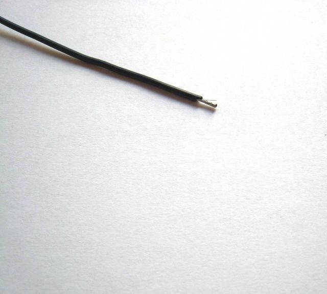 Silikonkabel 20AWG schwarz 0,52mm² Silikonlitze - Meterware