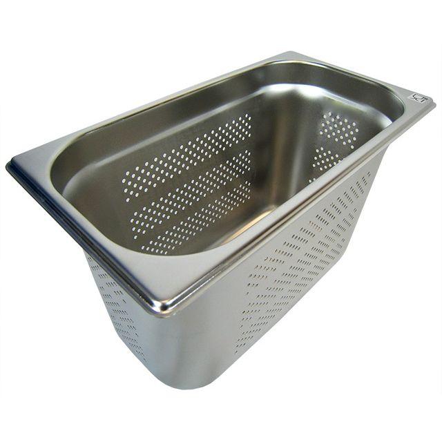 GN 1/3 Gastronormbehälter GN-Behälter Edelstahl 7,8 Liter Tiefe 200mm GELOCHT