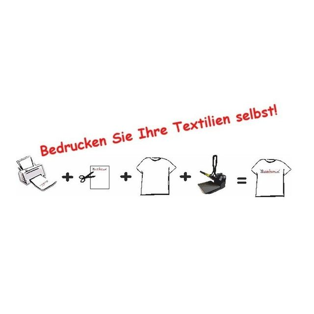20 Stück T-Shirt Folie Transferfolie A3 für helle Stoffe