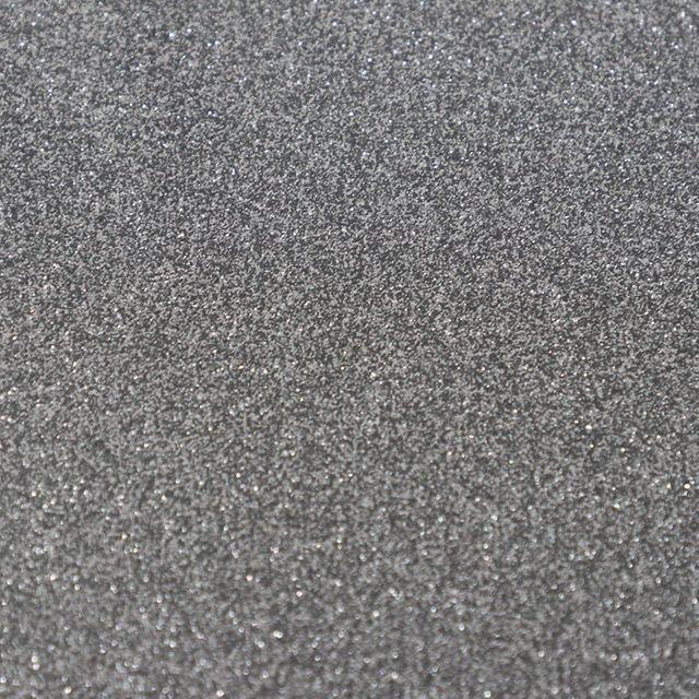 Flex T-Shirt Textil Plotter Folie DIN A4 - Glitter Silver Black - Siser G0061