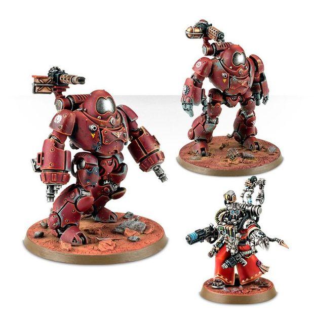 Adeptus Mechanicus Kastelan Robots , Warhammer alte Roboter Figuren, 95-teilige Kunststoffbausatz
