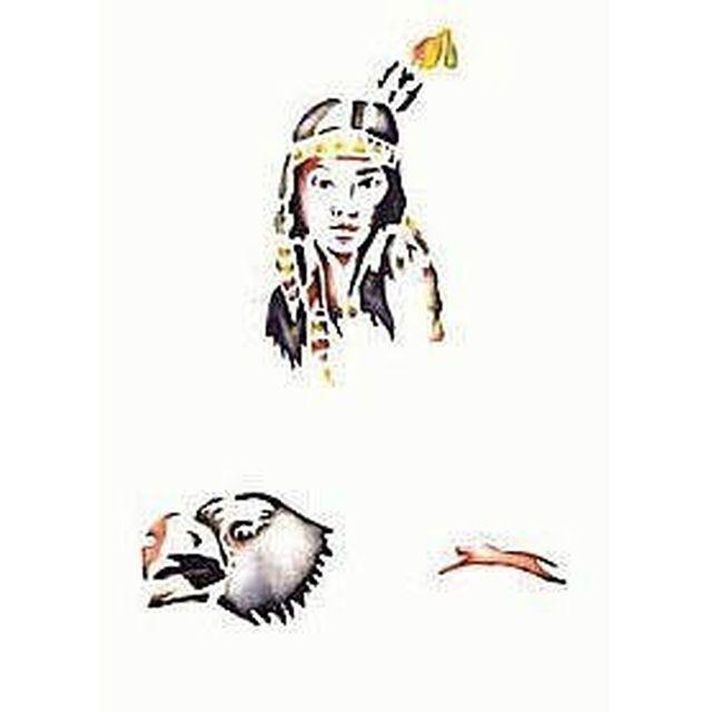 Airbrush Schablone Indianer 262 571