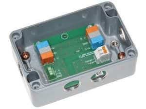 Bild Auswerteelektronik für Bodenfeuchte Sensor im Gehäuse