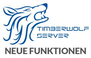 Logo Timberwolf Server mit darunter befindlicher Schrift Updateinfo Firmware