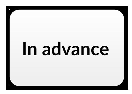 In advance Icon