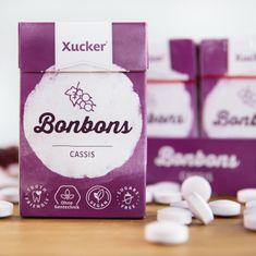"50 g Xucker Xylit-Bonbons ""Cassis"" ohne Talkum von Mindel-Food Lebensmittelproduktion GmbH"