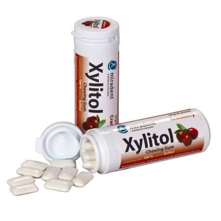 miradent Xylit-Kaugummi (30 g), Cranberry
