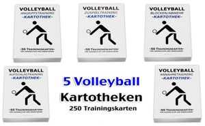 5 Kartotheken-SET - Volleyballtraining