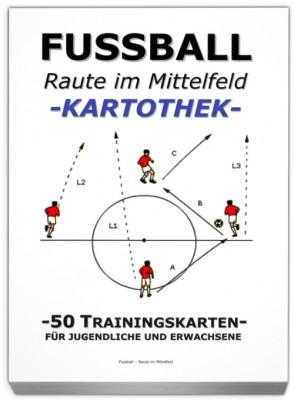"FUSSBALL Trainingskartothek - ""Raute im Mittelfeld"""