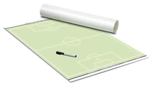 FUSSBALL - TAKTIKPOSTER (Grün) 600 x 800 mm