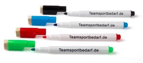 Whiteboardmarker 4 stuks – gesorteerde kleuren (uitwisbare marker)
