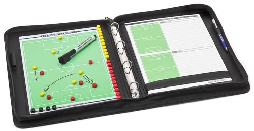 FUSSBALL - hochwertige Trainermappe (Leder)