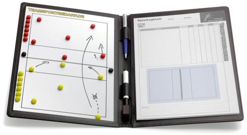 VOLLEYBALL - magnetische Taktikmappe (Leder)