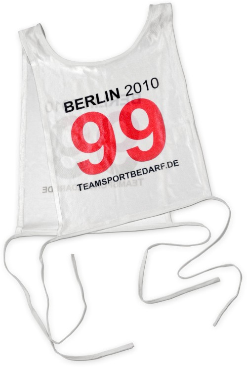 Start number bibs - with print
