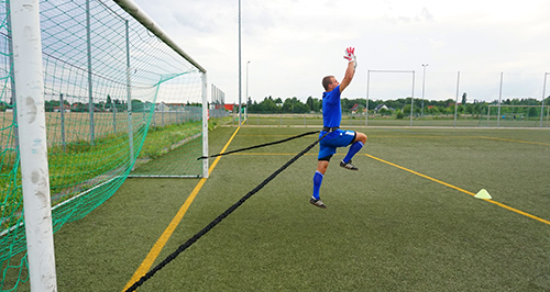 Power Bungee Strap 9 (short) - Goal keeper training in the 5 meter area