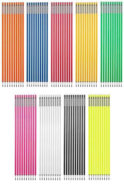 Slalomstangen 170 cm (Ø 32 mm, 9 Farben) - 10er Set