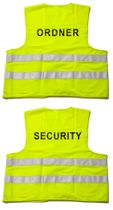 Warnwesten bedruckt - ORDNER oder SECURITY (EN471) Gelb