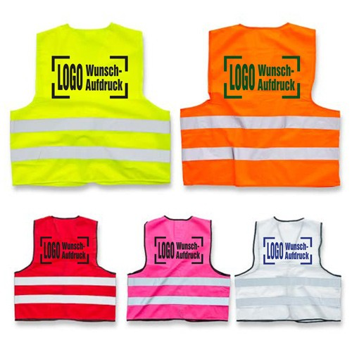 Safety Vest – with the desired imprint (EN471)