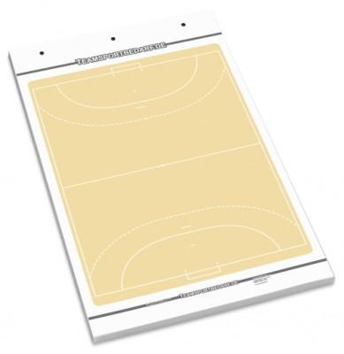 Handball Flipchart-Spielfeldblock - 25 Blatt