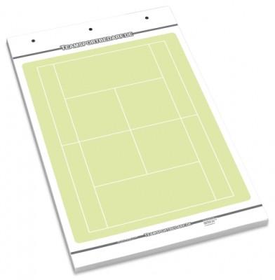 TENNIS Flipchart-Spielfeldblock - 25 Blatt