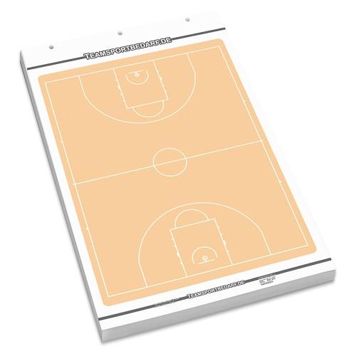 BASKETBALL Flipchart-Spielfeldblock - 25 Blatt