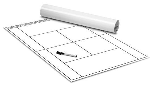 TENNIS - TAKTIKPOSTER (Weiß) 600 x 800 mm