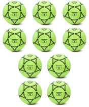 Football - Set of 10 felt hall footballs (size 5)