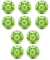 Football - Set of 10 felt hall footballs (size 4)