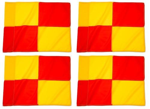 Fahnentuch für Eckfahnen - Farbe: Gelb/Rot