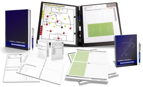 FUSSBALL - TRAINERSET 2 (Taktikmappe + Arbeitsbuch + Notizbuch + Notizblock + Spielbeobachtungsblätter)