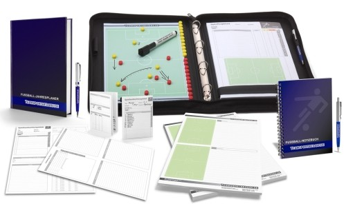 FUSSBALL - TRAINERSET 3 (Trainermappe + Arbeitsbuch + Notizbuch + Notizblock + Spielbeobachtungsblätter)
